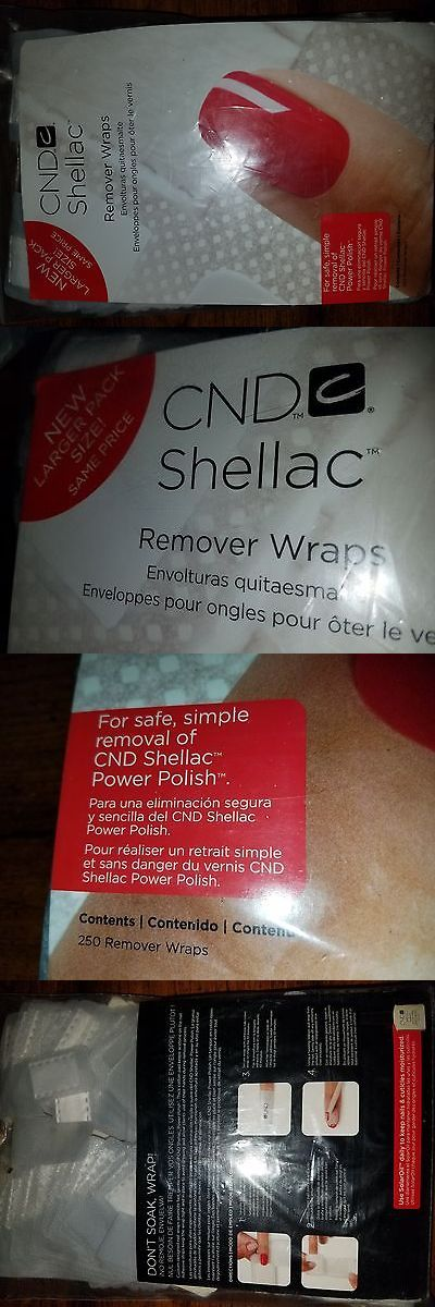 Nail Polish Remover: 250 Pack Cnd Shellac Remover Wraps Creative Nail Uv Gel Polish Us Free Shipping BUY IT NOW ONLY: $35.0