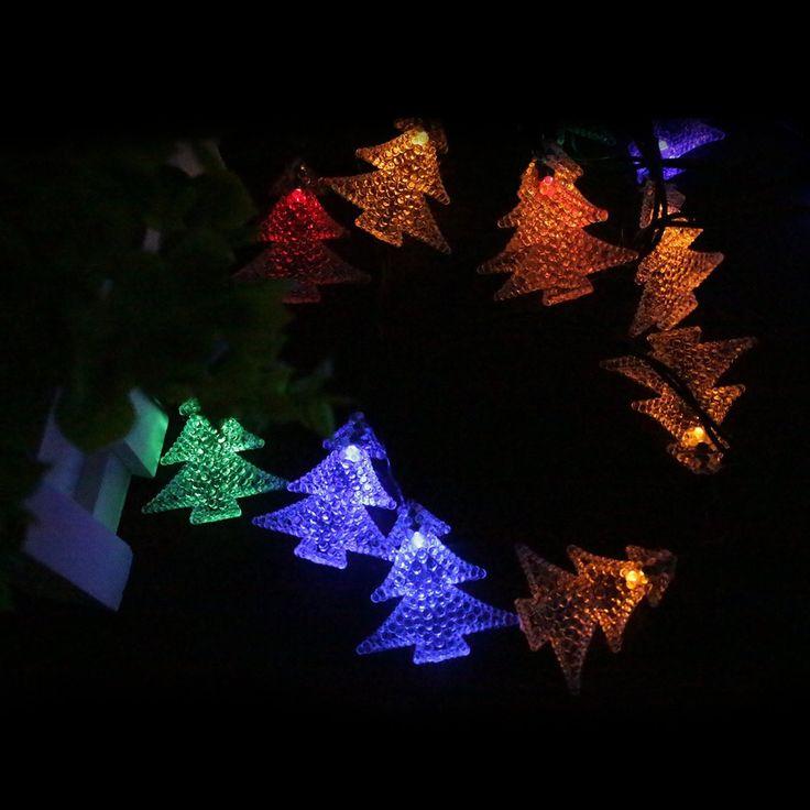 680 best images on pinterest christmas decor christmas amazon echtpowertm solar powered christmas tree light with 60 aloadofball Images
