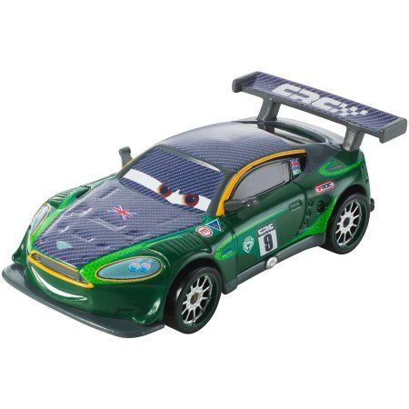 Disney Cars Carbon Racers Nigel Gearsley Die-Cast Vehicle, Multicolor