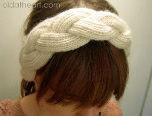 Knit head band