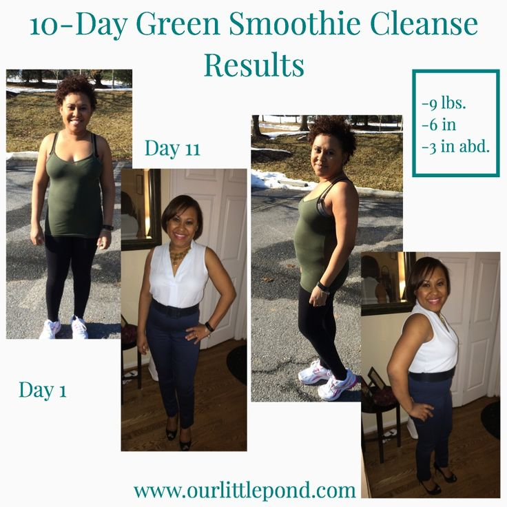 10-Day Green Smoothie Cleanse Results- Before and After