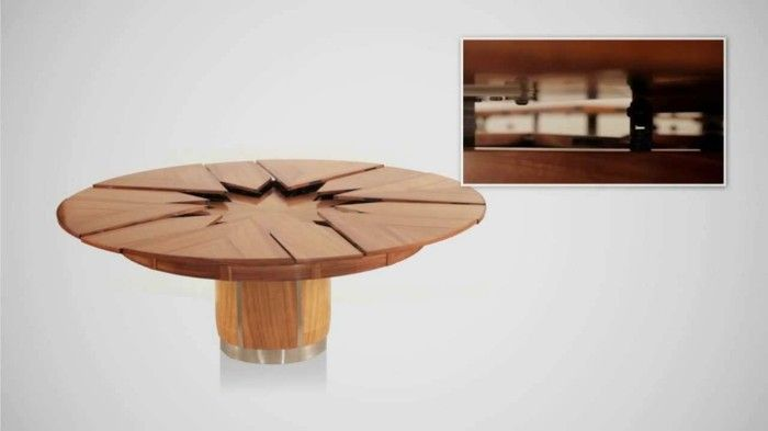 im bezug auf den trend fr nachhaltigkeit stellen wir heute einen runden und ausziehbaren tisch vor der im netz als fletcher capstan tisch besser bekannt - Erweiterbar Runden Podest Esstisch