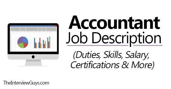 Accountant Job Description (Duties, Skills, Salary