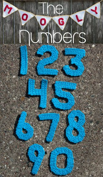 Crochet Numbers  (Free Patterns 0-9)