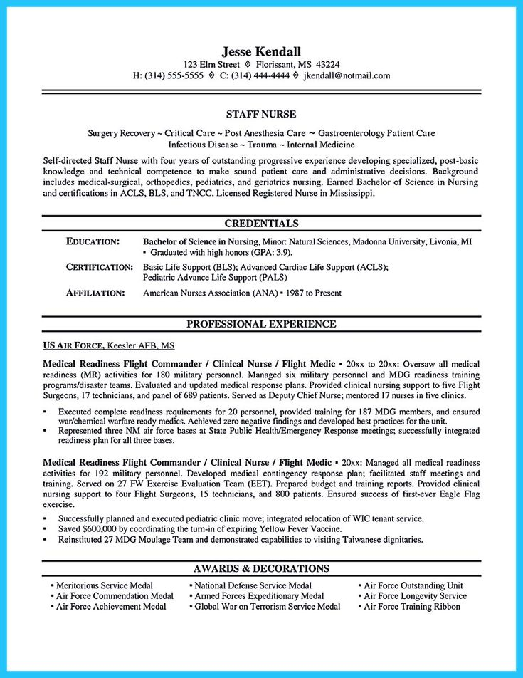 43 best resume images on Pinterest Resume, Resume cover letters - life flight nurse sample resume