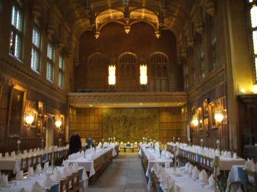 King's College dining hall. Magnificent splendour.