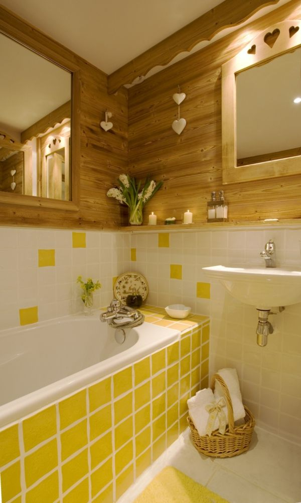 Nice Gray And Yellow Bathroom Decoration Furniture