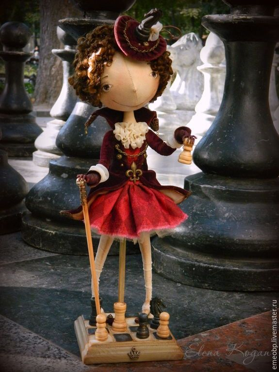 Купить Виктория. Шах и мат! - виктория, шахматы, пешка, шах и мат, авторская кукла