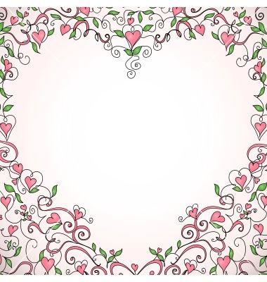 Heart-shaped frame vector by Olga_Lebedeva on VectorStock®