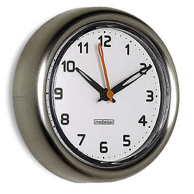 The Container Store FormaR Stainless Steel Suction Clock