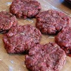 These tasted delicious. I made homemade hamburger buns to eat them on. Perfect for a simple weekday meal.
