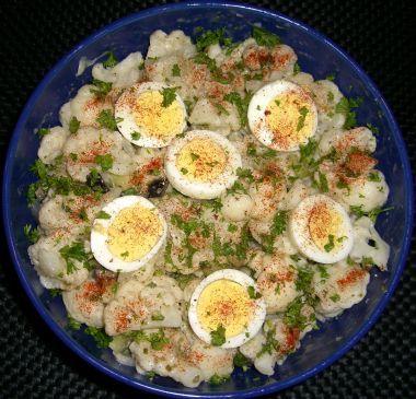 Cauliflower faux potato salad Recipe via @SparkPeople