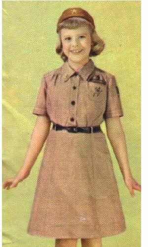 brownies uniform  :o)..loved the cap..got to wear the uniform to school on meeting days