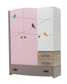 Шкаф 3-х дверный Pink Birdy NewJoy (НьюДжой)