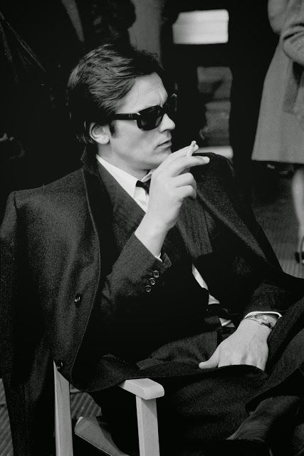 The French actor Alain Delon appears while making 'The Sicilian Clan' in Rome in 1969: Black and White Candid Photographs of Celebrities in the 1950s and 1960s