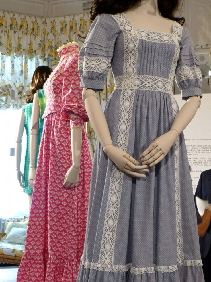 Beautiful lace detailing in this vintage Laura Ashley dress from the 60 year celebration