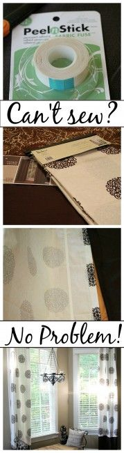 All things no sew projects.  Nifty, clever ways and how to add length to your drapes without sewing, just to name a few.