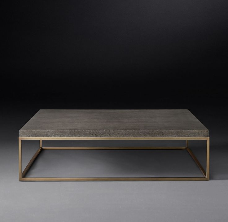 Nicholas Shagreen Square Coffee Table Coffee table square