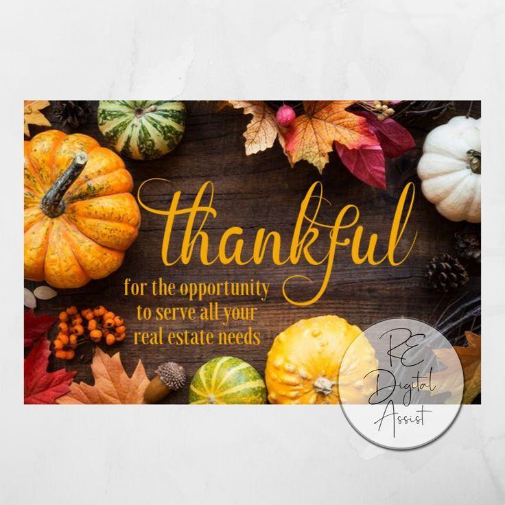 postcard thank you card printable card digital download fall postcard postcards orange postcard Thankful for you Postcard