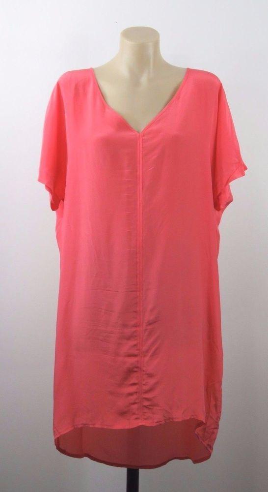 Size M 12 Chalice Ladies Silk Tunic Dress Boho Chic Casual Work Shift Design #Chalice #Tunic #Casual