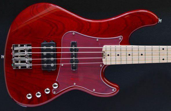 Cort GB74 JH Trans Red, Gloss Black four string bass, Jazz, Bass Direct - UK Basses specialist, Warwick, special offer, sale, Warwick, Birmingham, London, Manchester, USA, EU bass guitar