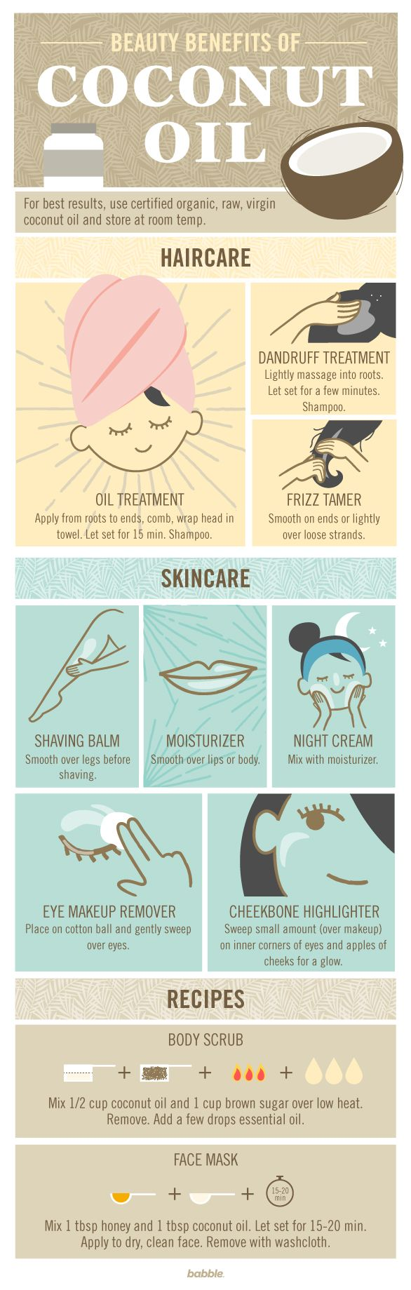 Coconut oil is everywhere right now. You don't know whether to eat it, drink it, or bathe in it. This guide provides you with all the beauty benefits.