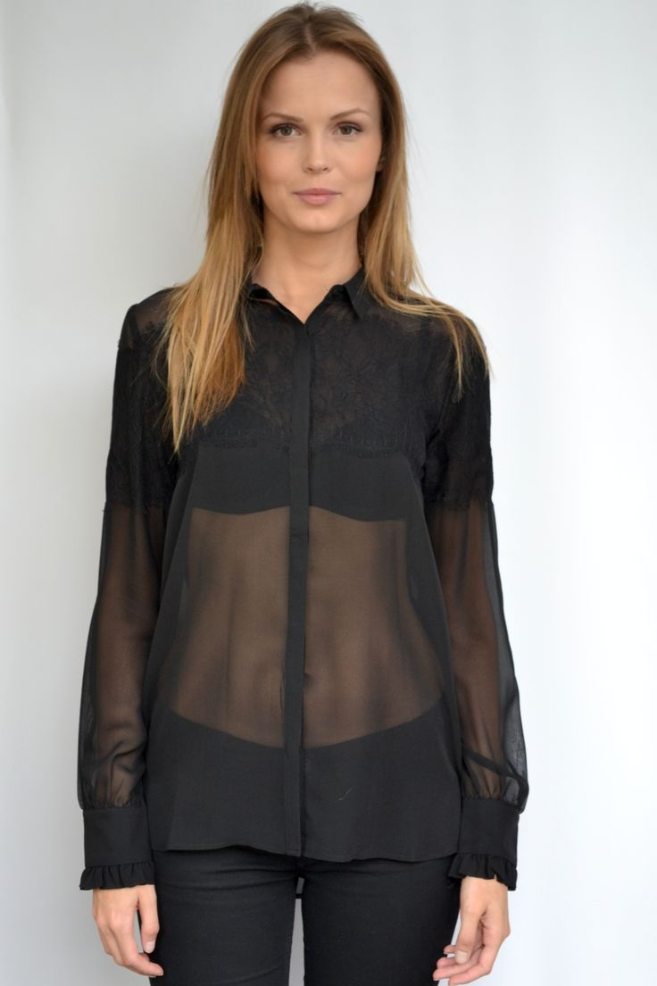 Black Lace Blouse from gold Hawk