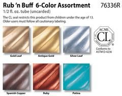 Rub 'n Buff > Rub 'n Buff 6 Color Sampler