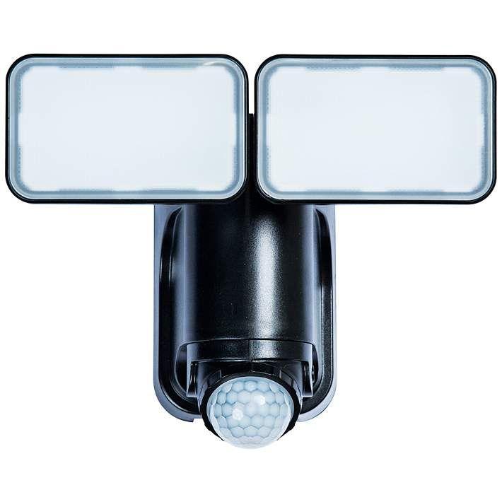 Black 1000 Lumen Motion Activated Solar Led Security Light 14h13 Lamps Plus Security Lights Solar Led Solar Led Lights