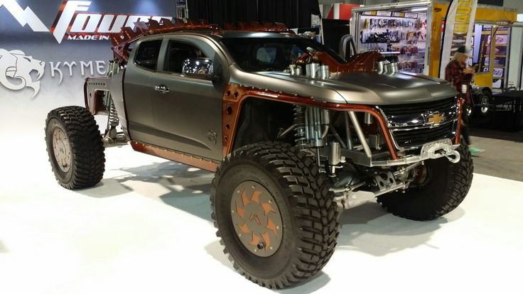 Chevy Canyon based custom off road truck at the 2016 SEMA Show.
