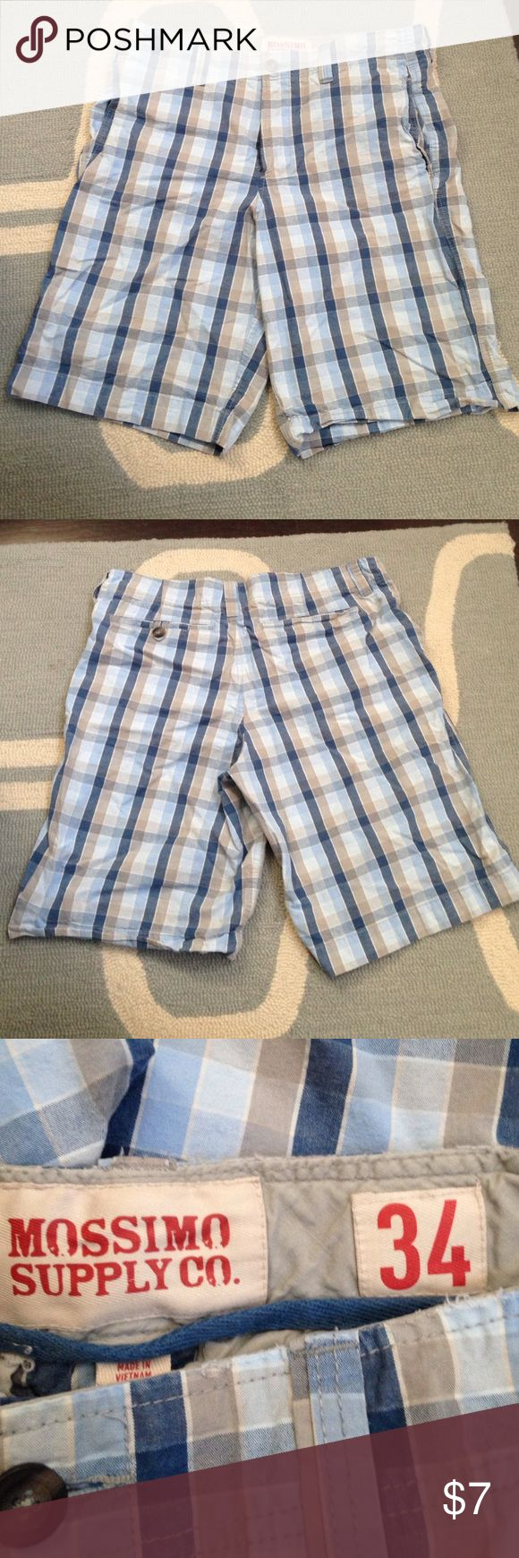 Men's plaid shorts- WILL BUNDLE! Men's Mossimo plaid shorts, approx. knee length. Mossimo Supply Co. Shorts Flat Front
