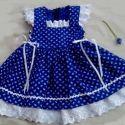 Kékfestő lányka ruha, Baba-mama-gyerek, Ruha, divat, cipő, Gyerekruha, Kékfestő lányka ruha kétoldalt fűzővel szabályozható a bősége.74-140 ...