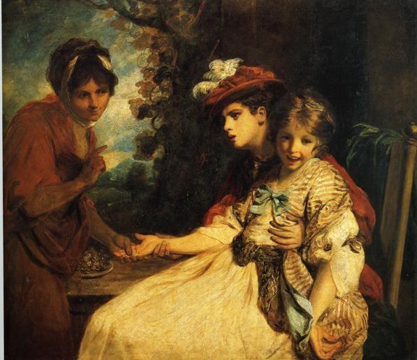 The Gypsy Fortune Teller - Joshua Reynolds 1778 English Rococo