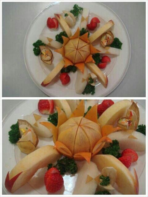 과일 예쁘게 깎아 담기