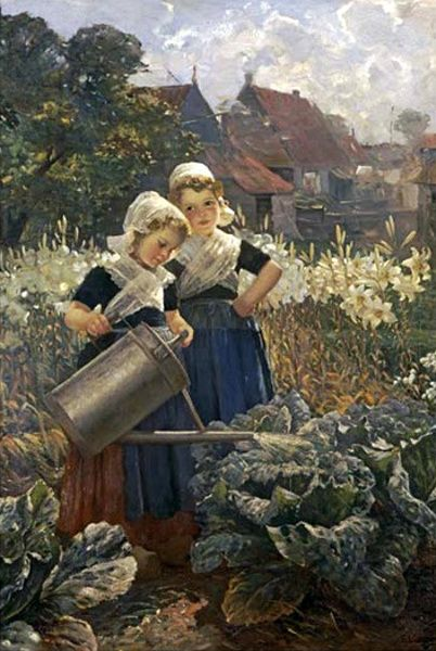 "Edmond Louyot (1861 – 1920)  ""The Little Gardeners"""