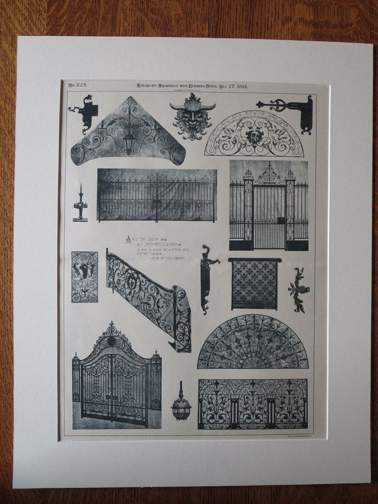 Art in Iron, Jno. Williams, 544-556 West 27th Street, New York, 1891, lithograph