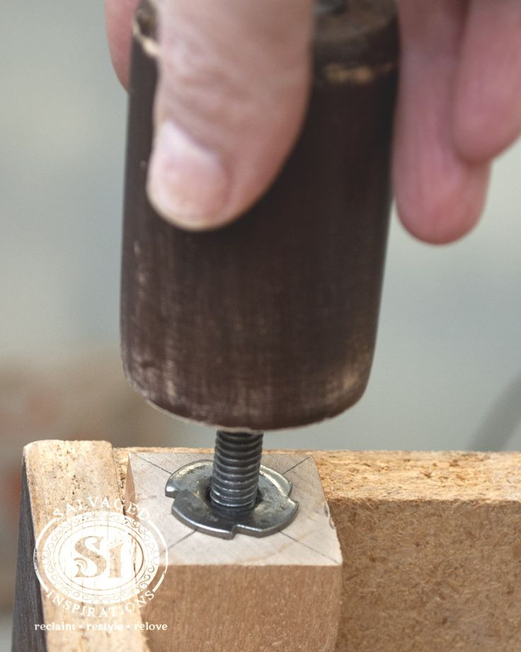 A super fast and secure way to install furniture legs ... T-Nuts!