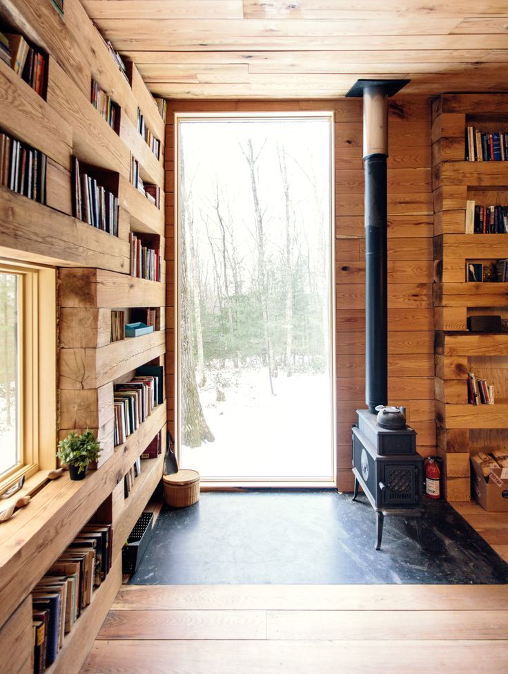 rustic reading room