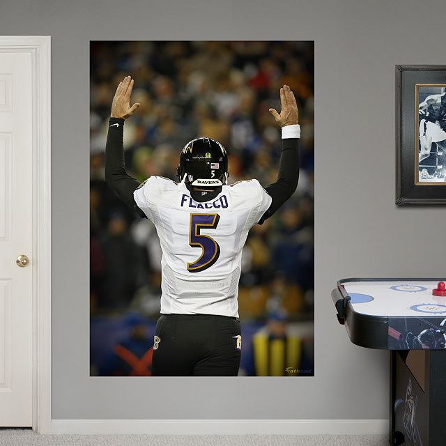 joe flacco playoff touchdown celebration mural realbig fathead wall graphic baltimore ravens