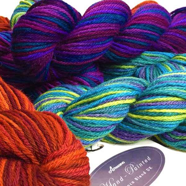 Autumn Artesano Handpainted Alpaca Wool Blend Yarn DK Colour Pack #handpainted #variegated #spacedyed #handdyed #handdying #handdye #colourpacks #lacey #knitting #crochet #weaving #weave #felting #alpaca #yarn #wool #alpacasilk #knit #alpaca #wool #yarn #crocheting #dk #doubleknitting #doubleknit