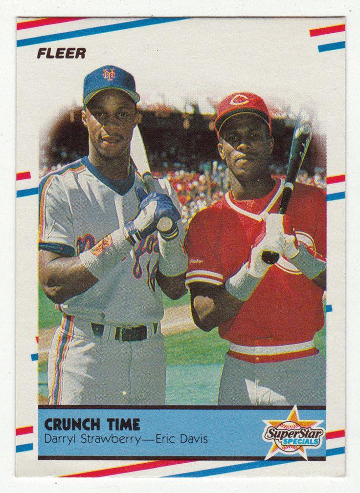 Darryl Strawberry / Eric Davis # 637 - 1988 Fleer Baseball