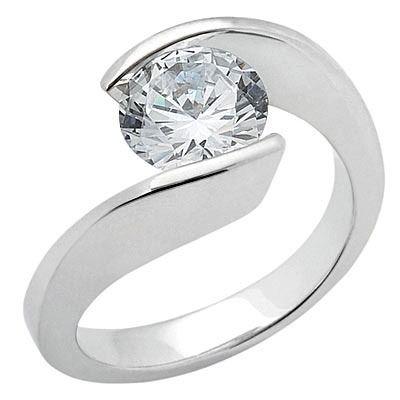 Unique modern diamond engagement ring
