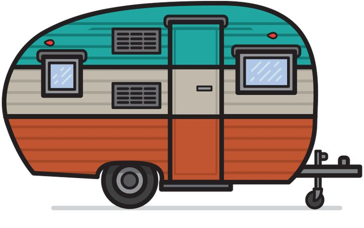 Free vintage camper clipart - ClipartFest
