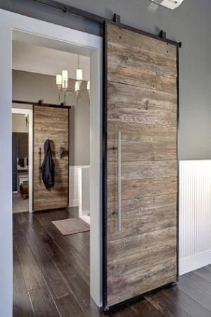 contemporary salvaged wood sliding barn door by allanahhunt1