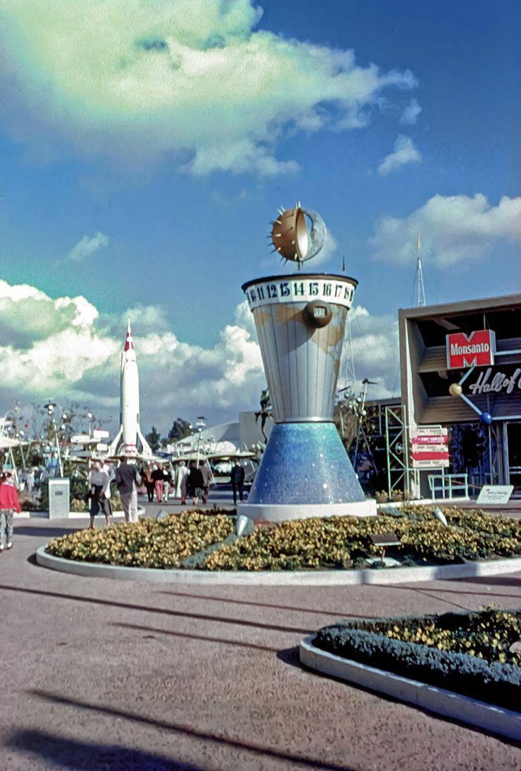 Daily Vintage Disneyland: The World Clock at Disneyland's Tomorrowland Facebook: https://www.facebook.com/mickeyphotosdisneyland