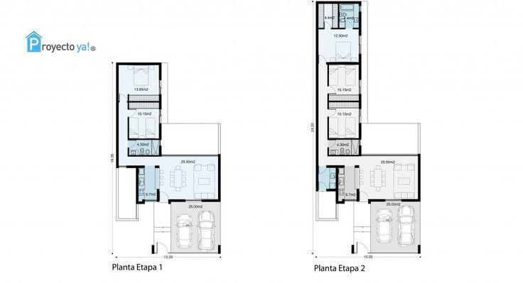 76m2 ampliables a 139m2. 2 Dormitorios, estar comedor, cocina, cochera doble. Diseñada para lote de 10m de ancho, está pensada …