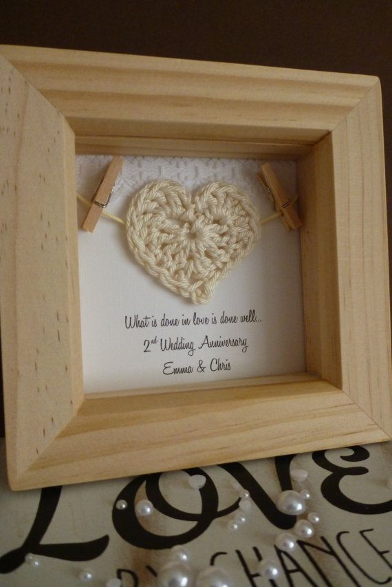 Wedding Gifts For 2nd Marriages : 2nd anniversary gift 2nd cotton anniversary gift by TimeForGift