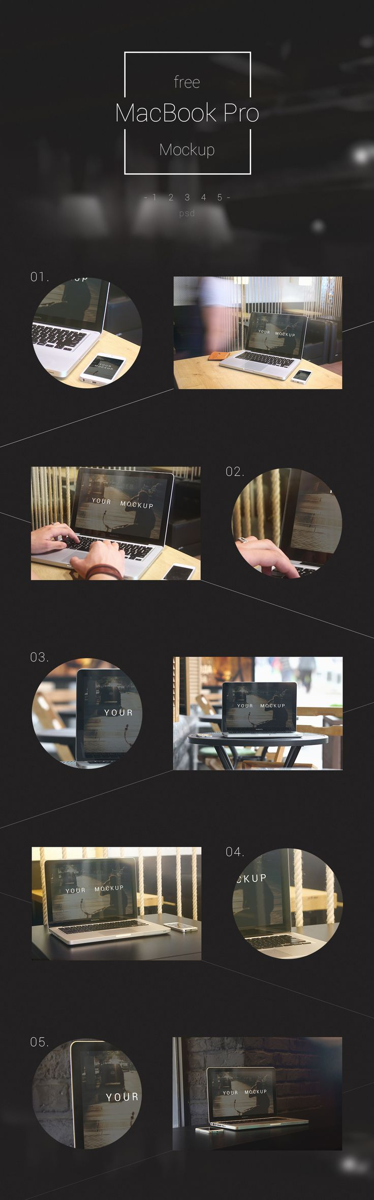 Free MacBooK Pro mockup download (123 MB) | On Behance