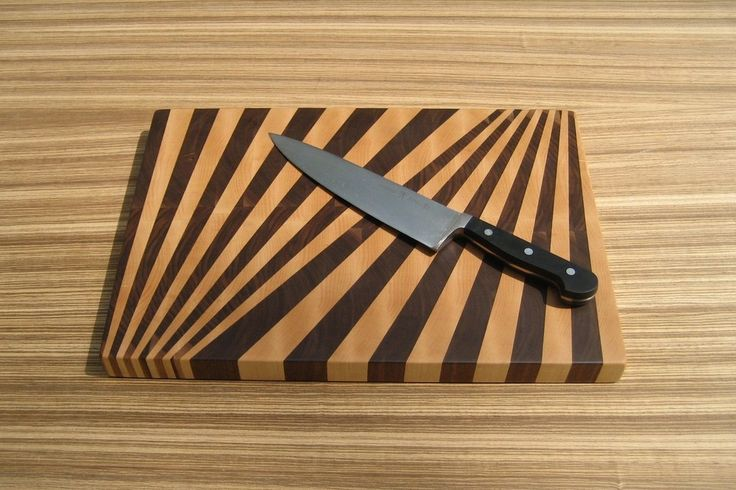Image of Fan Pattern End-Grain Cutting Board
