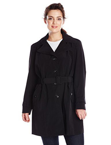 Calvin Klein Women's Plus-Size Single Breasted Classic Trench Coat